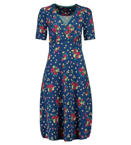 Tante Betsy Dress Auntie Midi Alpen Wiese Blue