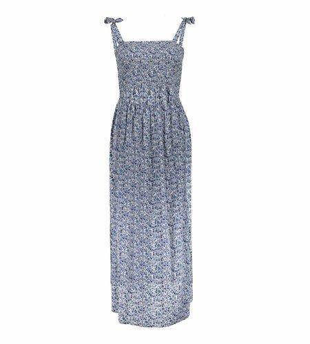 Geisha Dress All Over Print Shoulderstraps 17073-14 Blue Grey White