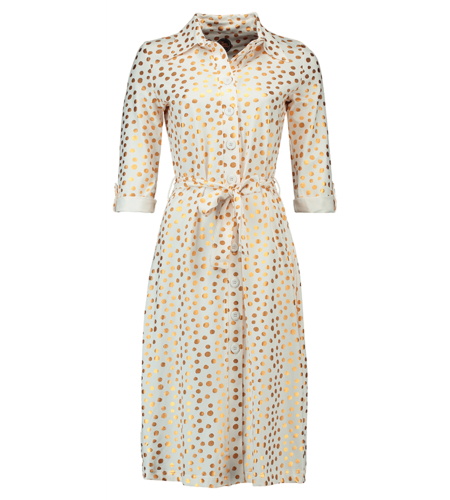 Tante Betsy Shirt Dress Gold Dot White