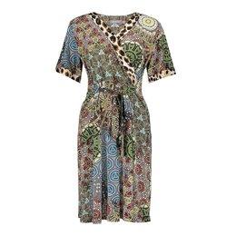 Geisha Dress Patchwork Leopard Print 17128-20