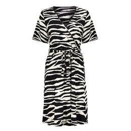 Geisha Dress Zebra Strap At Waist Short Sleeve 17130-20