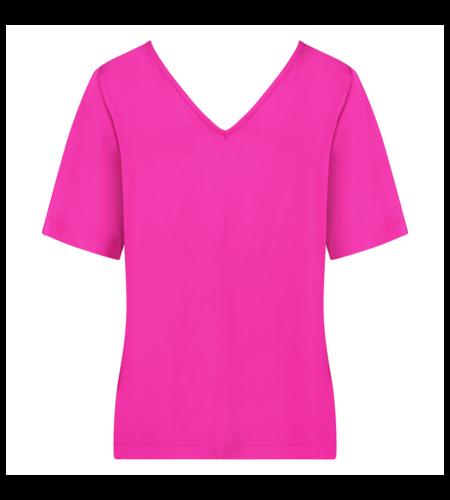 Studio Anneloes Ella 2way Satin Shirt Fuchsia