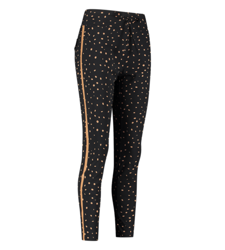 Studio Anneloes Road Cheeta Trousers Black Camel