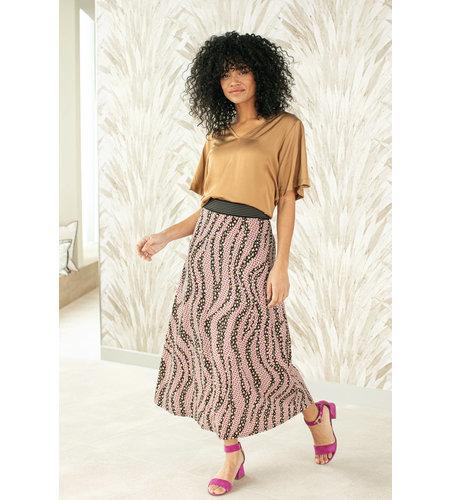 Studio Anneloes Leona Fancy Leo Flower Skirt Black Camel
