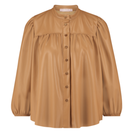 Studio Anneloes Abby faux Leather Blouse