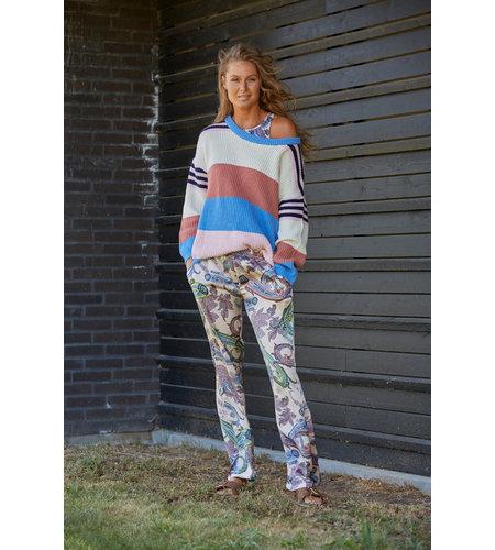 Costa Mani Amanda Pullover Multi Stripe Multi Stripe