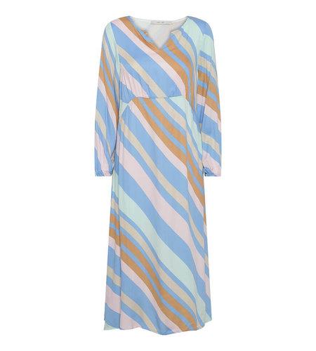 Costa Mani Happy Dress Multi Stripe Multi Stripe