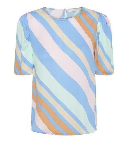 Costa Mani Happy Blouse Multi Stripe Multi Stripe