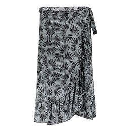 Geisha Skirt All Over Print Wrap Ruffles 16076-20