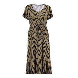 Geisha Dress Long All Over Print Short Sleeve 17062-40