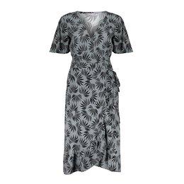 Geisha Dress Wrap With Ruffle Short Sleeve 17104-20