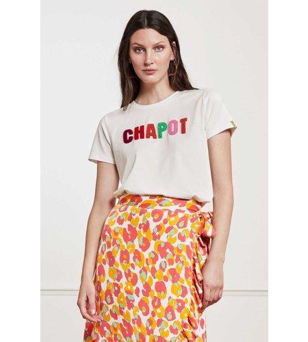 Fabienne Chapot Terry T Shirt Cream White