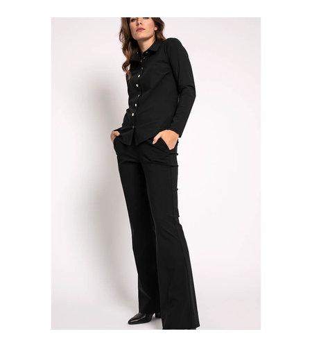 Studio Anneloes Flair LONG Bonded Trousers Black