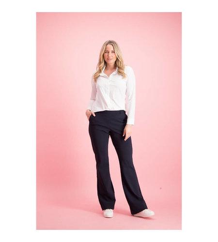 Studio Anneloes Flair LONG Bonded Trousers Dark Blue
