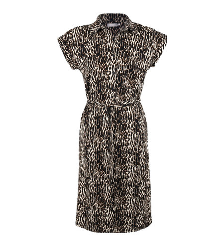 Geisha Dress 17491-20 Sand Black