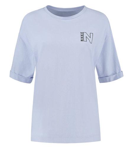 NIKKIE Nikkie Amsterdam Tshirt Ice Blue