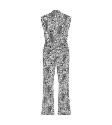 Studio Anneloes Nina Leopard Jumpsuit Off White Black