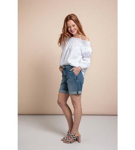 Studio Anneloes Mona Organic Jeans Bermuda Mid Jeans