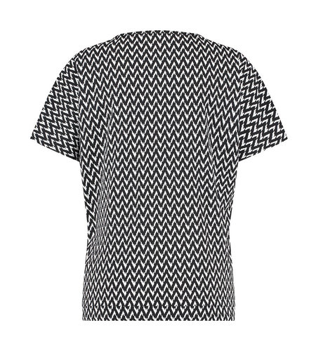 Studio Anneloes Made Small Zig Zag Shirt Black Off White