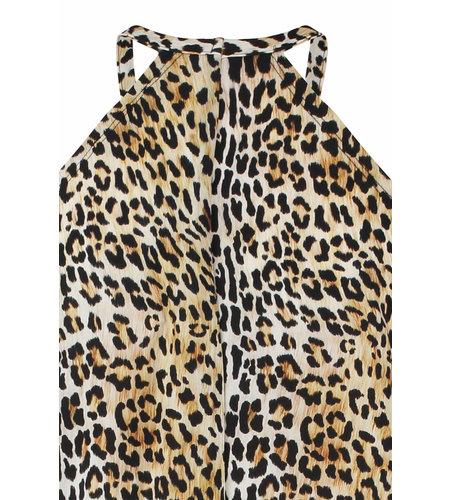 Studio Anneloes Carla Leopard Dress Off White Black