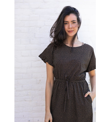 Studio Anneloes Celeste Minimal Dress Black Caramel
