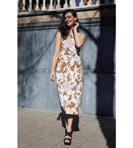 Studio Anneloes Sigrid Flower Dress Off White Caramel