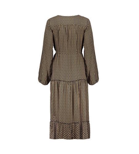Geisha Dress Long Tapared Tassel 17067-40 Black Tabacco