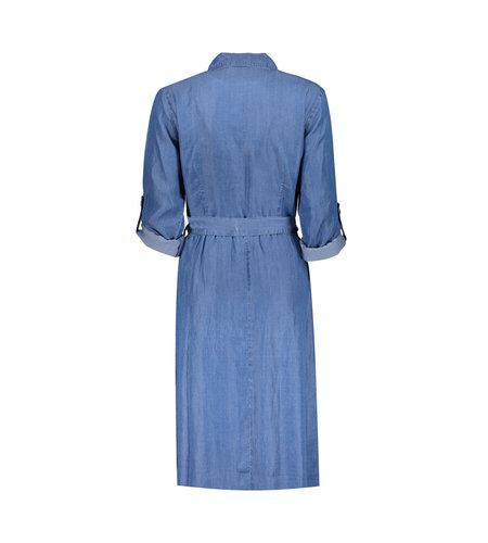 Geisha Dress Lyocell Button Closure Strap 17006-10 Indigo