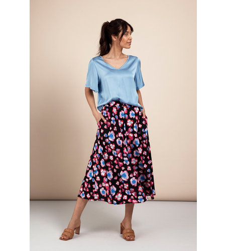 Studio Anneloes Jans Paint Skirt Dark Blue Fuchsia