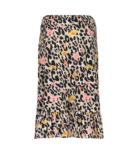 Geisha Skirt Rose Wrap 16380-60 Sand Pink Leopard