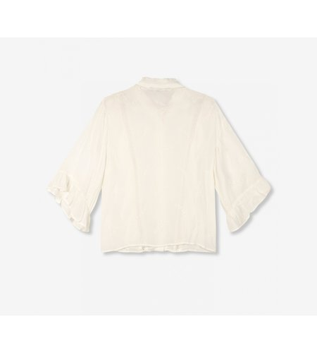 Alix The Label Ladies Woven Embroidery Chiffon Blouse Soft White