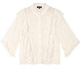 Alix The Label Ladies Woven Embroidery Chiffon Blouse