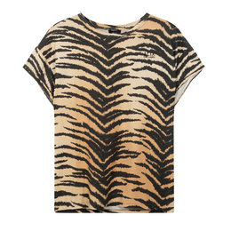 Alix The Label Ladies Knitted Boxy Allover Tiger T-Shirt