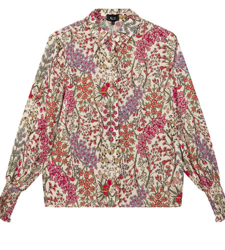 Alix The Label Ladies Woven Floral Blouse Multi Colour