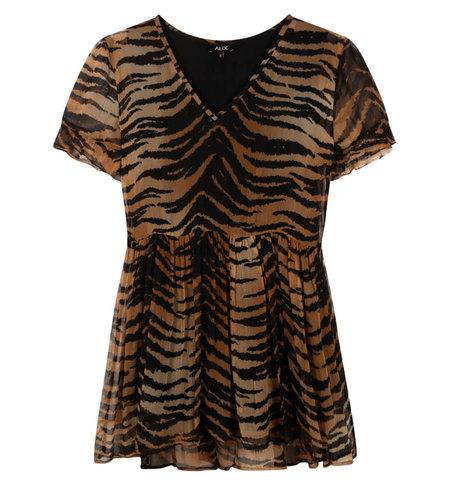 Alix The Label Ladies Woven Tiger Crinkle Chiffon Dress Animal