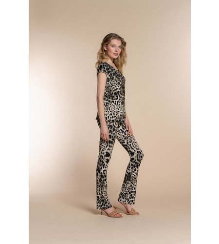 Geisha Flair Amber Legging 11370-60 Sand Black Leopard