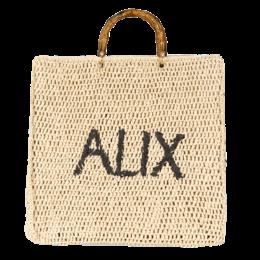 Alix The Label Ladies Woven Alix Paper Chrochet Shopper