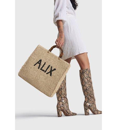 Alix The Label Ladies Woven Alix Paper Chrochet Shopper Ecru
