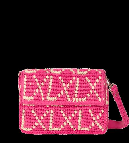 Alix The Label Ladies Paper Chochet Small LX Bag Fuchsia