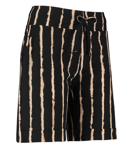 Studio Anneloes Bermuda Tie Dye Pinstripe Black Camel