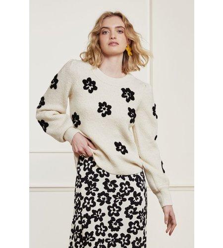 Fabienne Chapot Fenny Pullover Cream White Black
