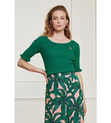 Fabienne Chapot Sanne Short Sleeve Boatneck Pullover Emerald