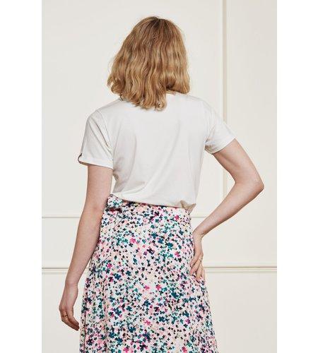 Fabienne Chapot Terry Pink T Shirt Cream White