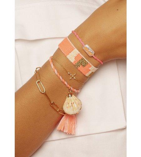 Mya Bay Bracelet Kilim Pink