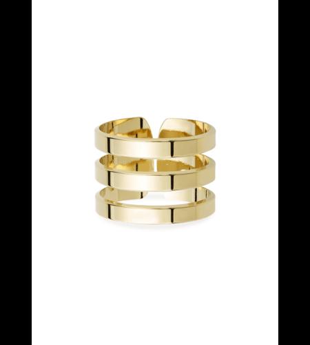 Mya Bay Ring Triple Gold