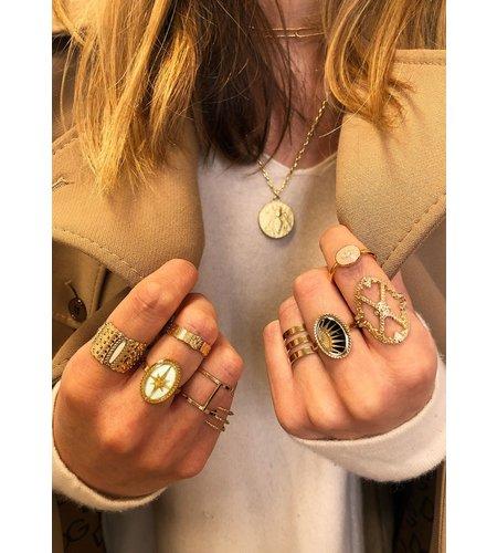 Mya Bay Ring Triple Silver