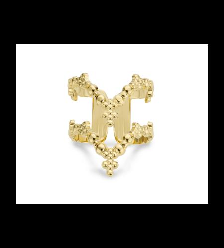 Mya Bay Ring Double V Gold