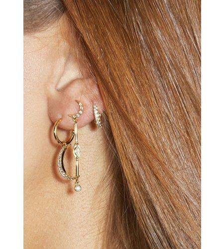 Mya Bay Earrings Moon Gold
