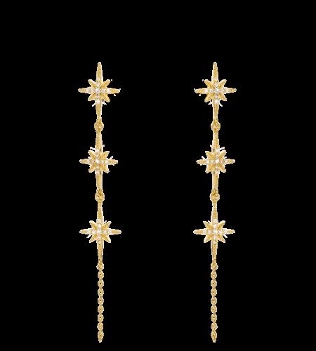 Mya Bay Earrings Diwali River Gold