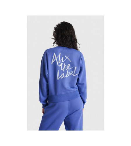 Alix The Label Ladies Knitted Sweater Blue Purple